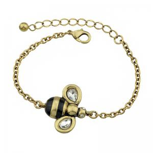 Gold-color Chain with Bee Charm Bracelet -
