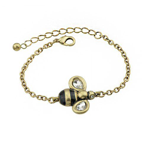 Sale Gold-color Chain with Bee Charm Bracelet