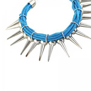 Multi Layer String Chain with Spike Shape Charm Bracelet -
