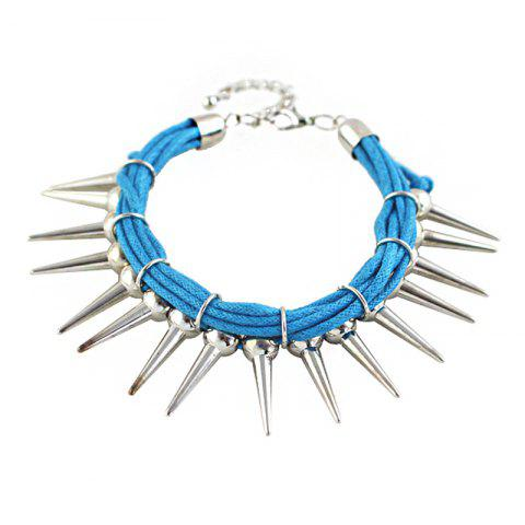 Cheap Multi Layer String Chain with Spike Shape Charm Bracelet