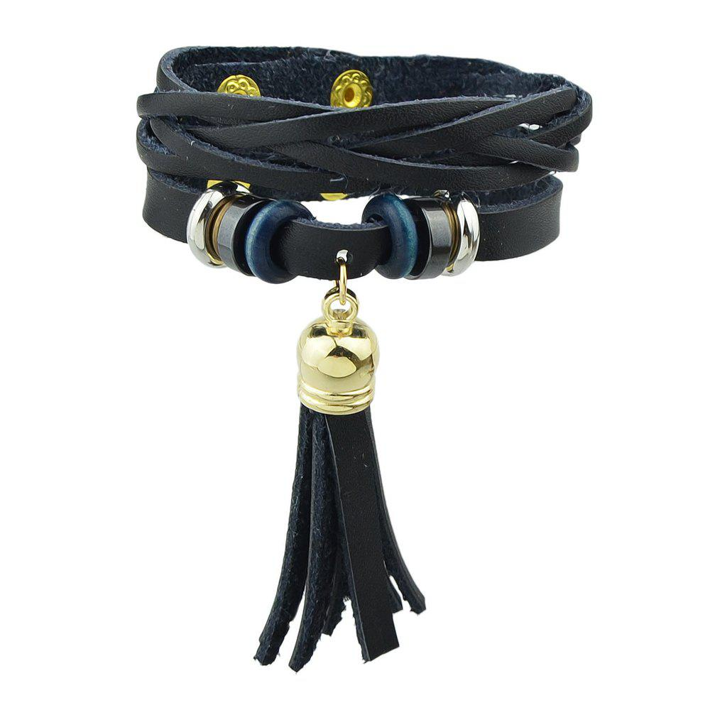Fancy Punk Rock Style PU Leather Warp Bracelets