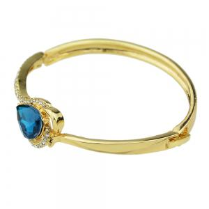 Luxury Gold Color with Rhinestone Crystal Bangles -