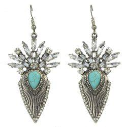 Rhinestone Stone Geometric Statement Drop Earrings -