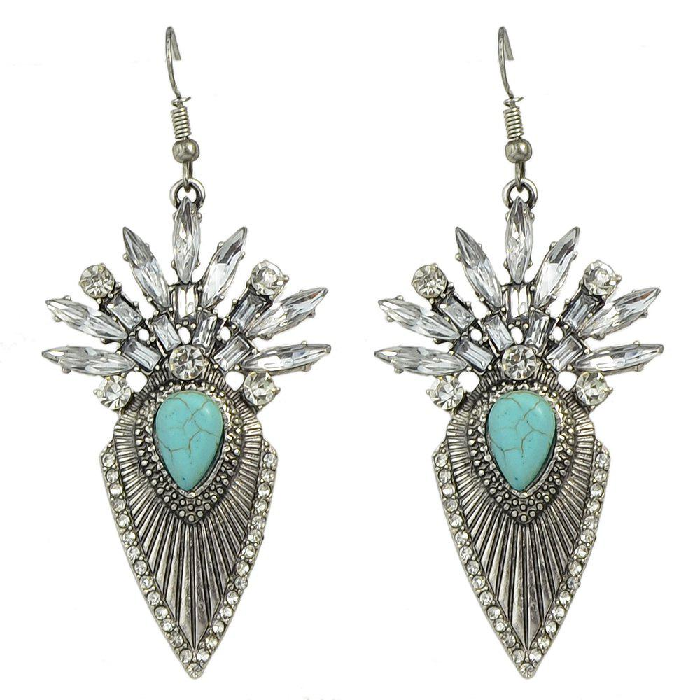Outfit Rhinestone Stone Geometric Statement Drop Earrings