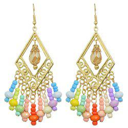 Bohemian Hollow-out Colorful Bead Earrings -