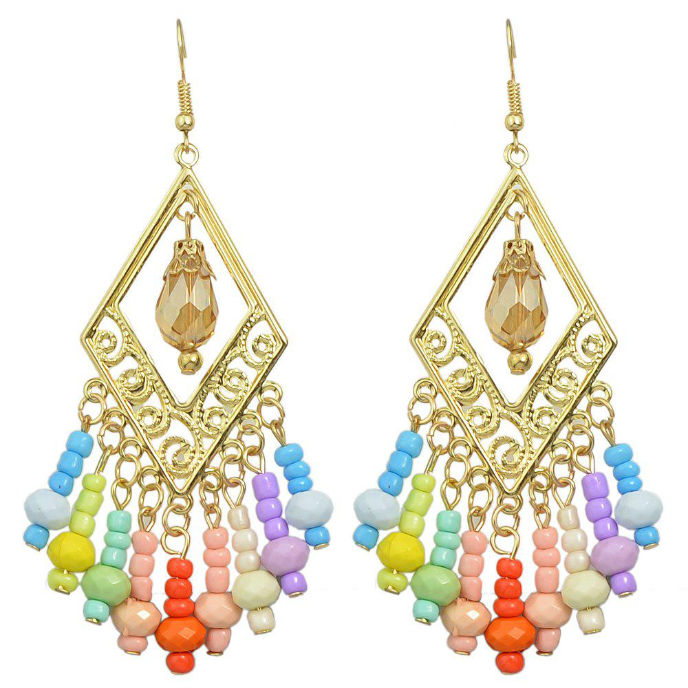 Outfit Bohemian Hollow-out Colorful Bead Earrings