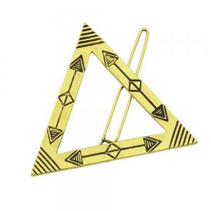 Gold Color Plated Triangle Big Hairpin -