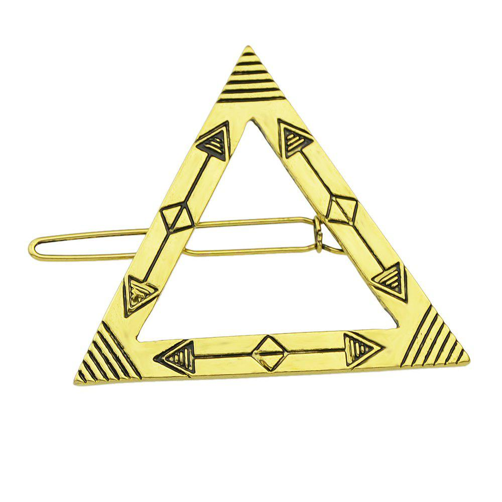 Trendy Gold Color Plated Triangle Big Hairpin