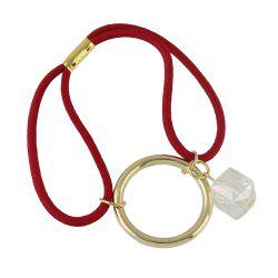 Elastic Rope White Bead Circular Geometry Headband -