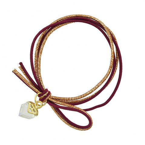 Trendy Colorful Rope with Crystal Decoration Headband