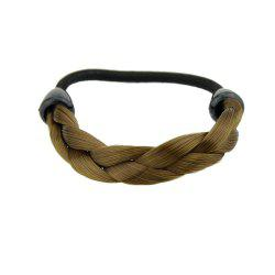 Trendy Brown Color Braided Hair Rubber Hairband -