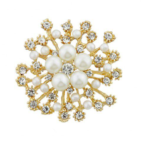 Affordable Full Rhinestone Flower Shape Brooch