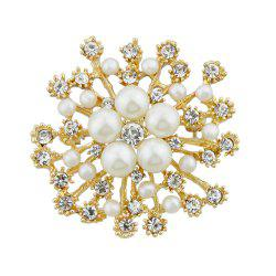 Full Rhinestone Flower Shape Brooch -