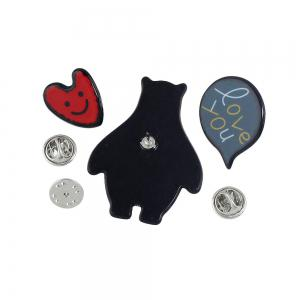 3pcs Lovely Colorful Cartoon Resin Brooch for Women -