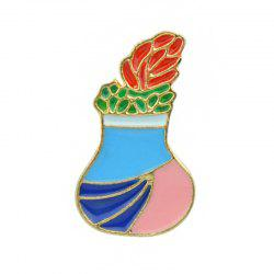 Cute Lovely Gold-color with Colorful Enamel Brooch -