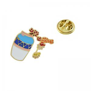 Cute Lovely with Flower Vase Leaf Brooch -