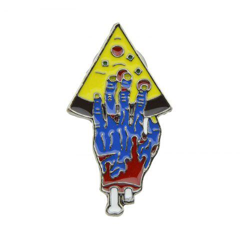 New Colorful Enamel with Hand Pizza Brooch