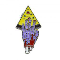 Colorful Enamel with Hand Pizza Brooch -