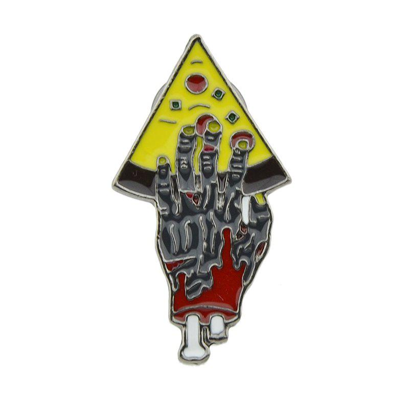 Store Colorful Enamel with Hand Pizza Brooch