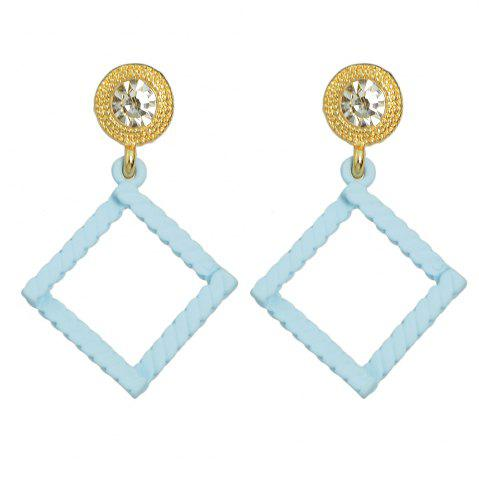 Outfit Minimalist Square Geometry Candy Colour Earrings