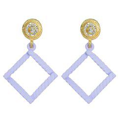 Minimalist Square Geometry Candy Colour Earrings -