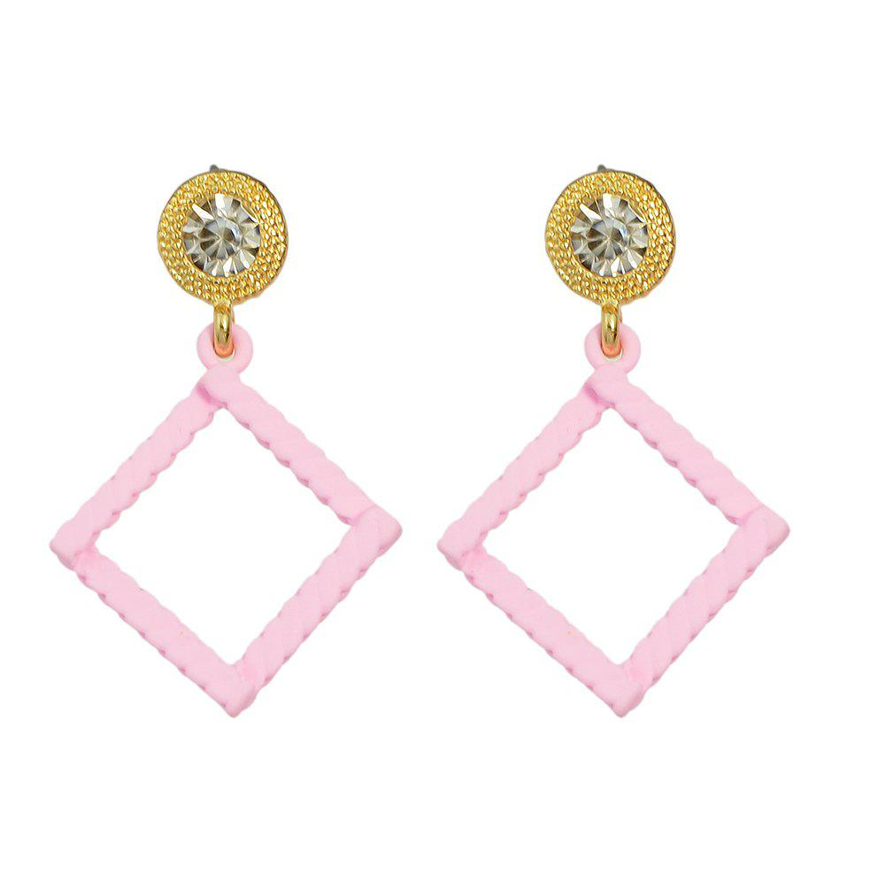 Affordable Minimalist Square Geometry Candy Colour Earrings