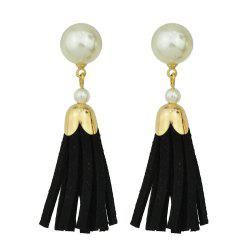 Fashion Multicolors PU Leather Tassel Earrings -
