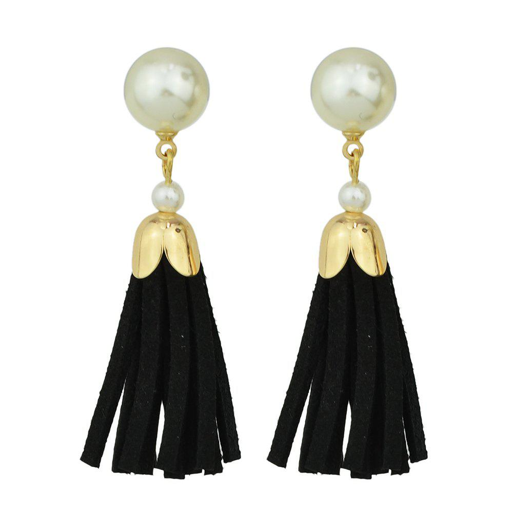 Shops Fashion Multicolors PU Leather Tassel Earrings