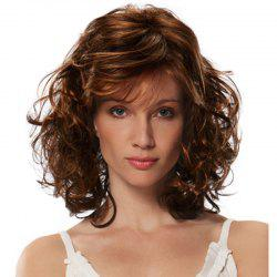 Gold Fluffy Slim Face Wig -