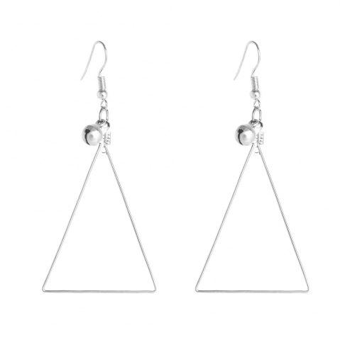 Shops Silver Hook with Triangular Bell Earrings