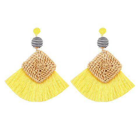 Affordable Summer Fashion Woven Tassel Earrings