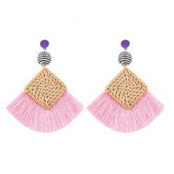 Summer Fashion Woven Tassel Earrings -
