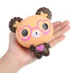Jumbo Squishy Kawaii Mignon Lunettes Ours Crème Saveur Slowly Rising Squeeze Jouet -