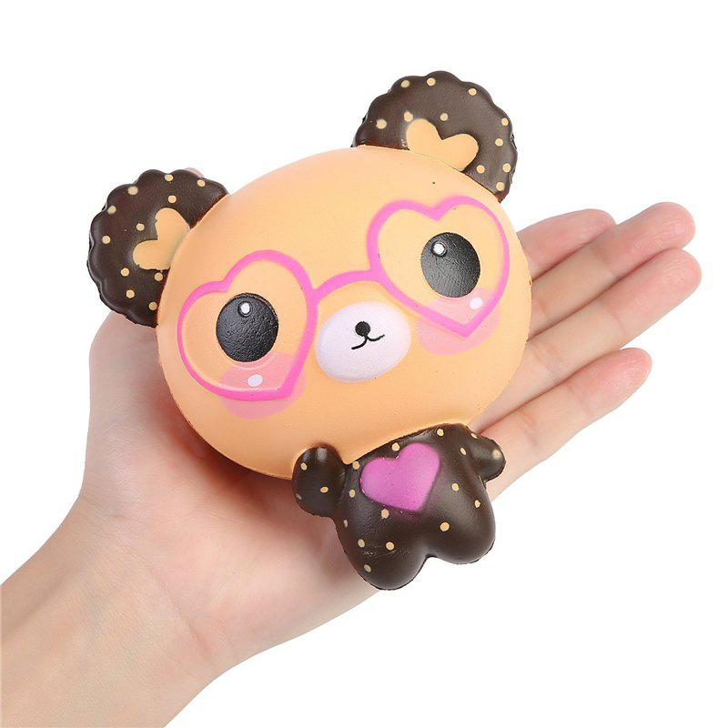 Jumbo Squishy Kawaii Mignon Lunettes Ours Crème Saveur Slowly Rising Squeeze Jouet