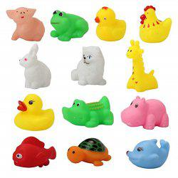 Baby Wash Bath Play Animals Toys 13PCS -