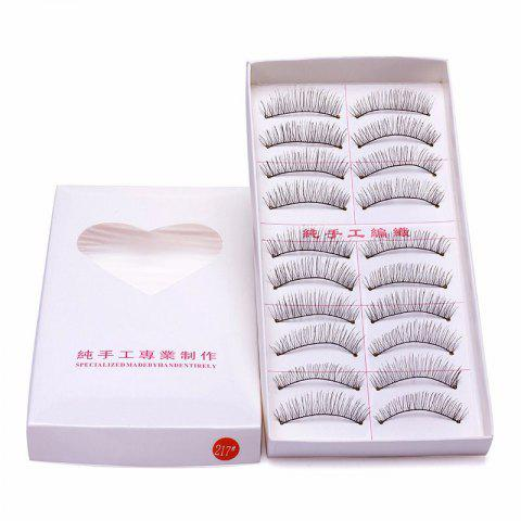 Online 10 Pairs False Eyelashes Natural Makeup Handmade Soft Lashes