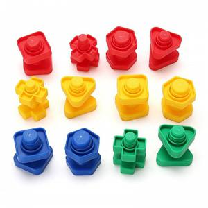 Le bloc de construction de vis bloque le jouet en plastique de forme d'écrou d'insertion 30PCS -