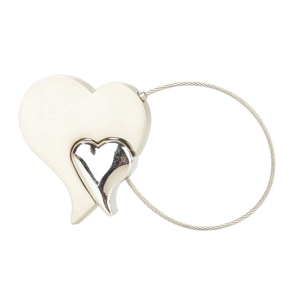 Chic Creative Double Heart Style Keychain