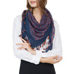 Flower Fashion Travel Cotton and Linen Scarves -