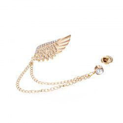Fashion Brilliant Jewelry Vintage Metal Feather Wings Brooch For Women -