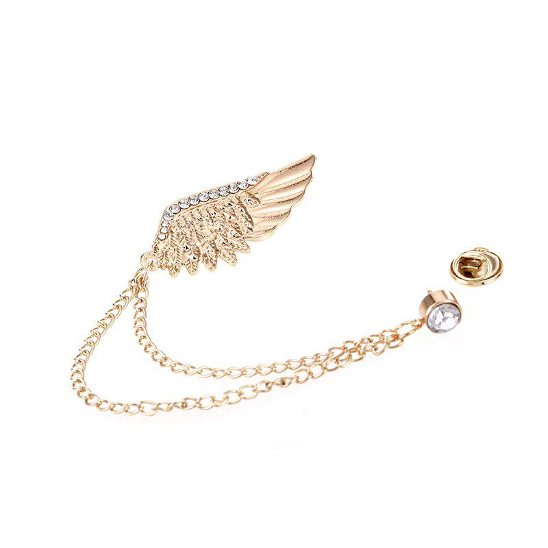 Buy Fashion Brilliant Jewelry Vintage Metal Feather Wings Brooch For Women