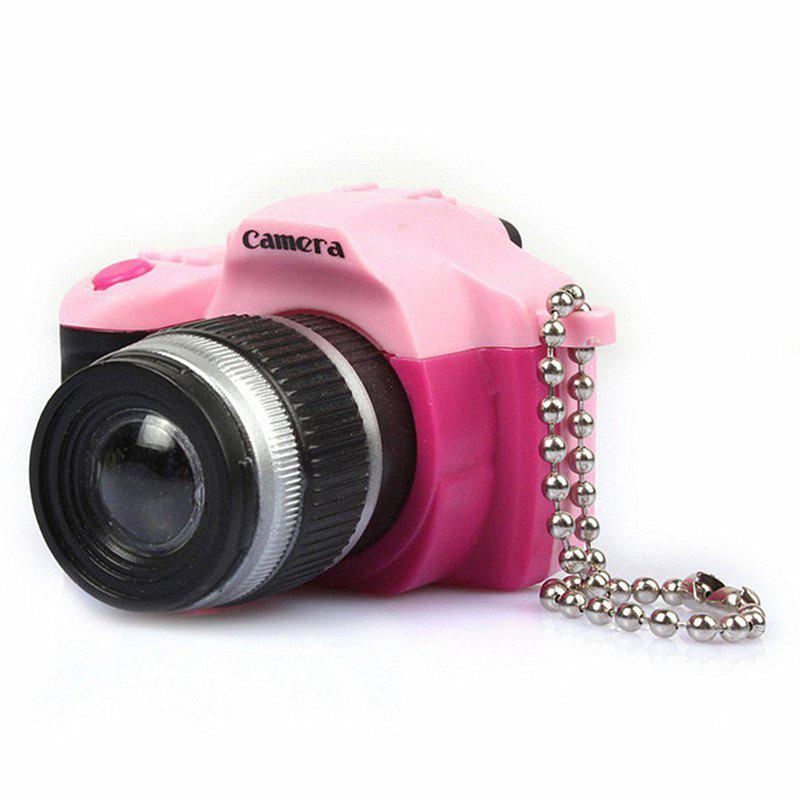 Chic Retro SLR Camera LED Flash Shutter Sound Key Button