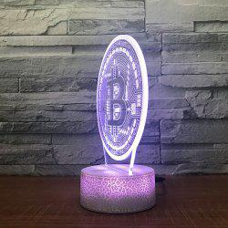 Round  Pattern Touch Colors Changing LED Night Light -