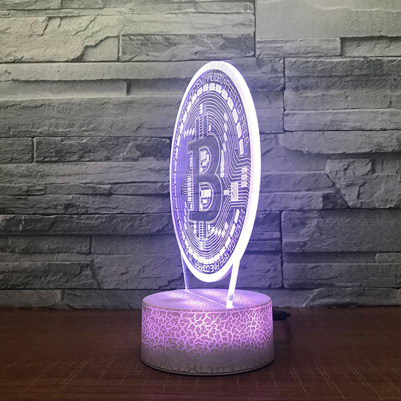 Latest Round  Pattern Touch Colors Changing LED Night Light
