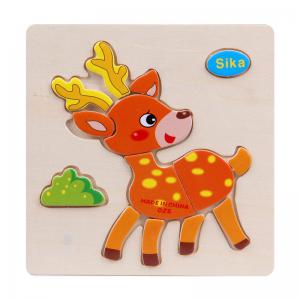 Wooden 3D Puzzle Jigsaw Kids Children Educational Toy -