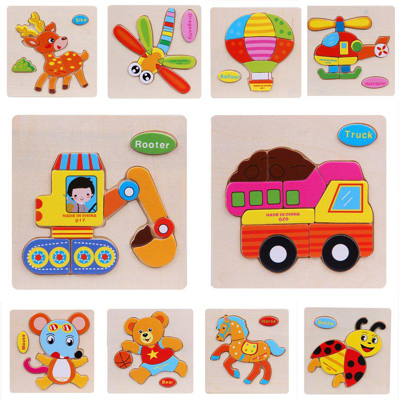 Fashion Wooden 3D Puzzle Jigsaw Kids Children Educational Toy