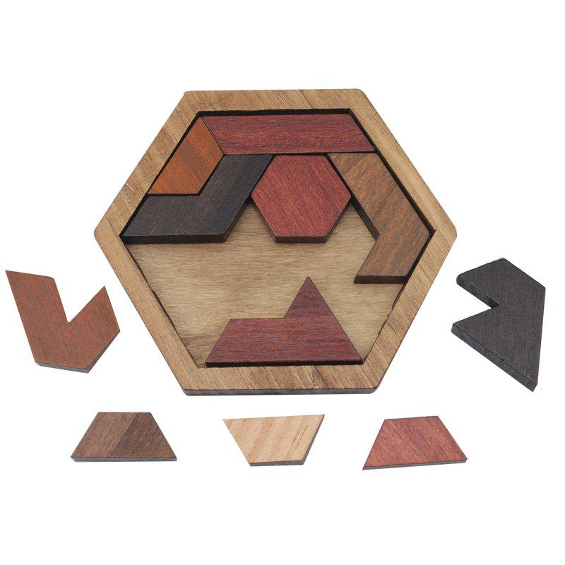 Best Funny Puzzles Wood Geometric Abnormity Shape Puzzle Wooden Toy