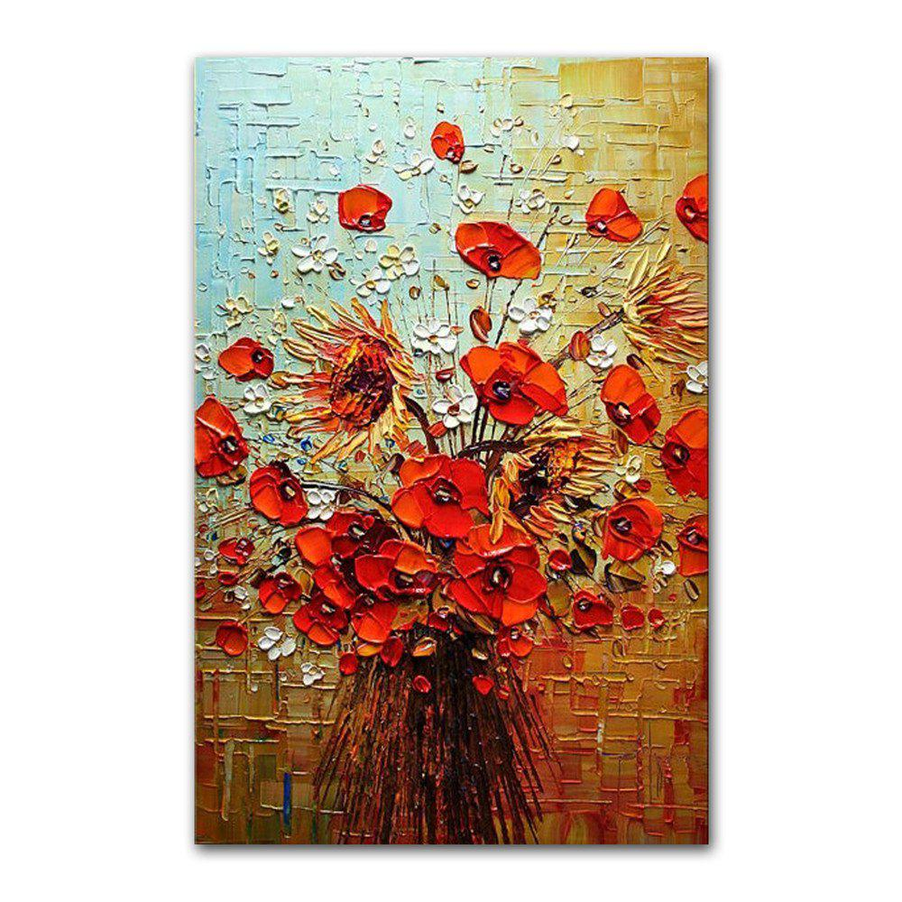 Outfit STYLEDECOR Modern Hand Painted Abstract Knife Painting Flowers Oil Painting