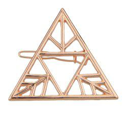 Hollow-out Triangle Geometric Hairpin for Women -