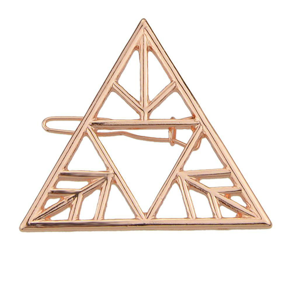 Fashion Hollow-out Triangle Geometric Hairpin for Women